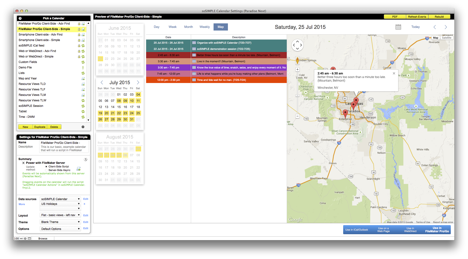 FileMaker Calendar and Resource Scheduler – by soSIMPLE